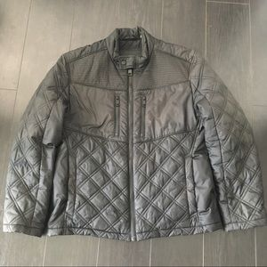 Marc New York Andrew Marc black motto quilted